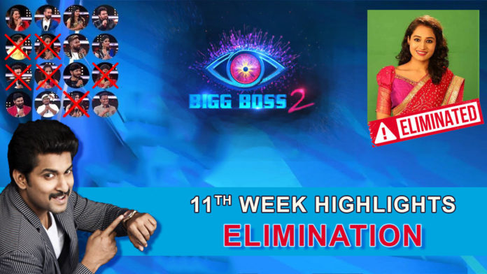Bigg Boss 2 telugu 11th week elimination highlights