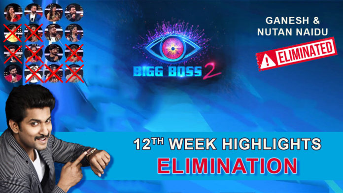 Bigg Boss 2 Telugu 12th Week Elimination Highlights