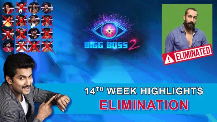 Bigg Boss 2 telugu 14th week elimination highlights
