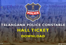 Download Telangana (TS) Constable Hall Ticket 2018