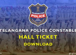 Download Telangana (TS) Constable Hall Ticket 2018