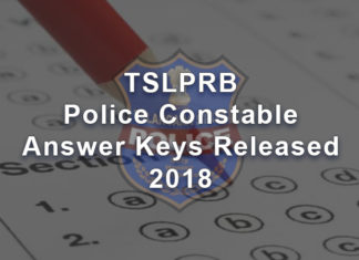 TS Police Constable Answer Keys Released 2018 - TSLPRB