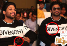 Allu Arjun's overall look estimates to around 1,55,000