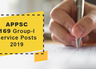 APPSC - Apply ONLINE for 169 GROUP I Posts